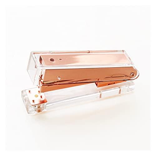 xinlianxin Grapadora manual de lujo oro rosa oro rosa 24/6 26/6 incluye 1000 grapas (color grapadora de oro rosa)