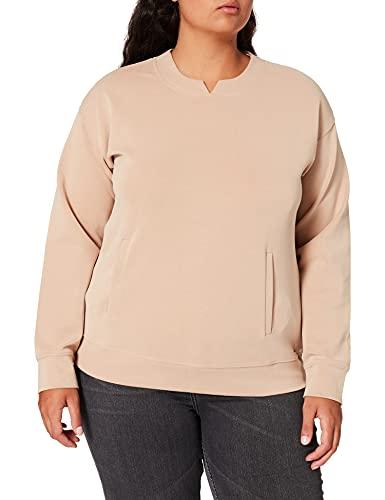 Samoon Damen Sweatshirt, Light Tannin Brown, 52