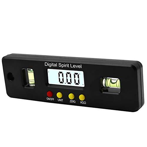 RongWang 150 mm Digital inclinómetro del prolongador Nivel del Compartimento Impermeable Buscador de medir ángulo Biselado de la Caja Goniómetro imán Regla Gauge