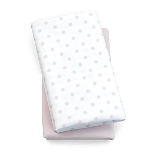 Chicco Lullaby Playard Sheets 2 Piece Set, Pink Dot
