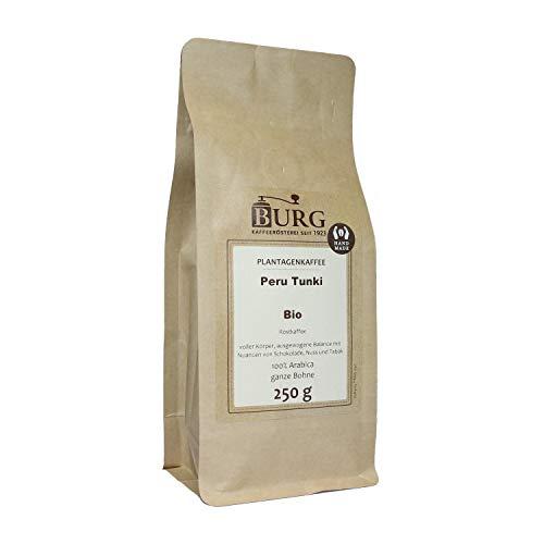 BURG Bio Peru Tunki Kaffee Gewicht 1000 g, Mahlgrad ungemahlen