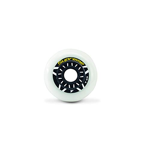 Rollerblade Supreme Urban 80mm 85A Wheels, 8 Pack, White, US Unisex ST