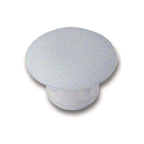 SECOTEC Abdeckkappe 8 mm | Kunststoff weiß | Bohrloch-Abdeckung | 20 Stück