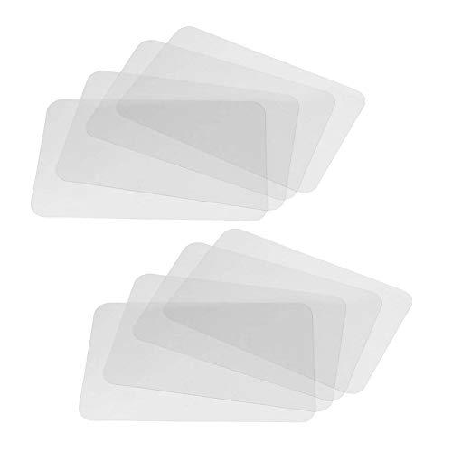 JUHONNZ Tovaglietta Plastificata,8 PCS Lavabili Tovaglietta Trasparente Tovagliette Americane Plastica Tovagliette per Tavolo da Pranzo da Cucina e Fodere per Frigorifero 43 * 28cm