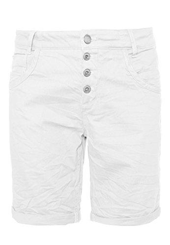 Urban Surface Damen Stoff Bermuda Shorts aus Stretch-Twill White M