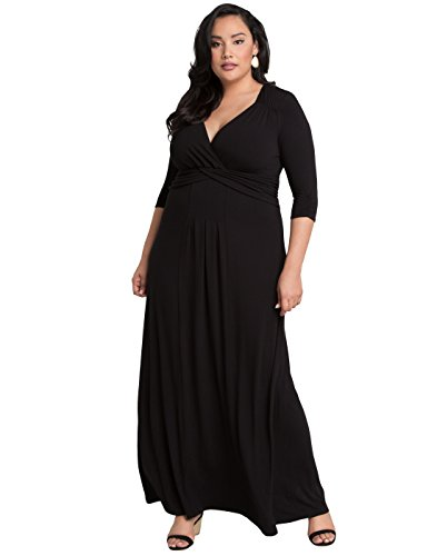 Big Sale Desert Rain Maxi Dress (3x, Black Noir)
