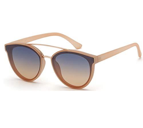 SQUAD Gafas de sol para mujeres con montura negra mate y máscara frontal de lente espejo cromado (C2)