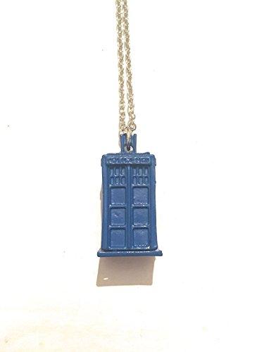 giulyscreations Collar Tardis de metal sin níquel inspirado en Doctor Who Police Box Cabina telefónica Serie TV Cosplay Doctor Box Office