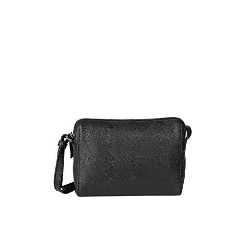 Bree Umhängetasche CARY 9 Shoulderbag Leder 14 x 19 x 5 cm (schwarz)