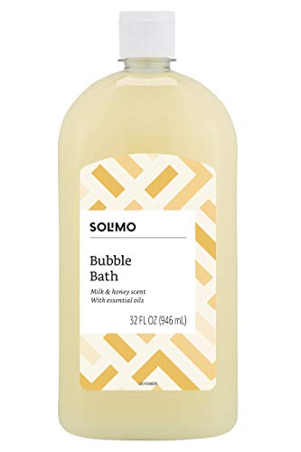 Amazon Brand - Solimo Milk and Honey Bubble Bath, 32 Fluid Ounce