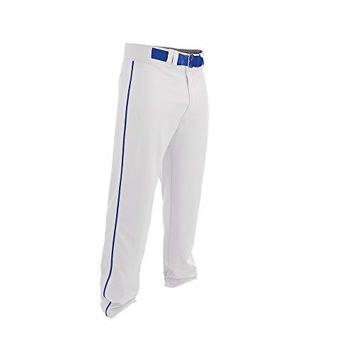 Easton Rival 2 Baseball Softball Pant | Youth | Medium | White Royal | 2020 | Double Reinforced Knee | Elastic Waistband w/ 2 Color Internal Logo | 2 Batting Glove Pockets | 100% Polyester