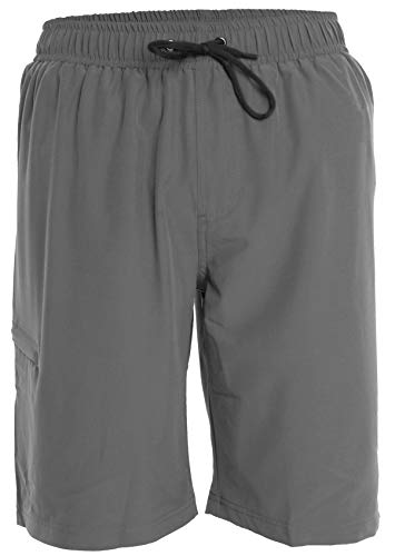Men's Boardshorts - XL - Gray - Perfect Swimsuit, Swim Trunks, Board Shorts, Workout or Athletic Shorts for The Beach, Lifting, Running, Surfing, Pool, Gym. for Adults, Men's Boys