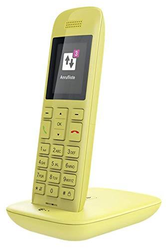 Telekom Speedphone 11 (mit DECT Basis und Anrufbeantworter - wahlweise nutzbar am IP Anschluss oder am analogen a/b Port) gelb