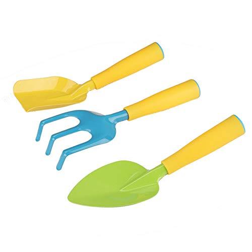 GoldPang Kinder Gartengeräte Set Kinder Gartenspielzeug kleine Gärtner Gärtnerin Gartengeräte für Kinder Mit Gartenwerkzeugtasche Kindergarten-Set Mehrzweck-Werkzeugtasche Leicht
