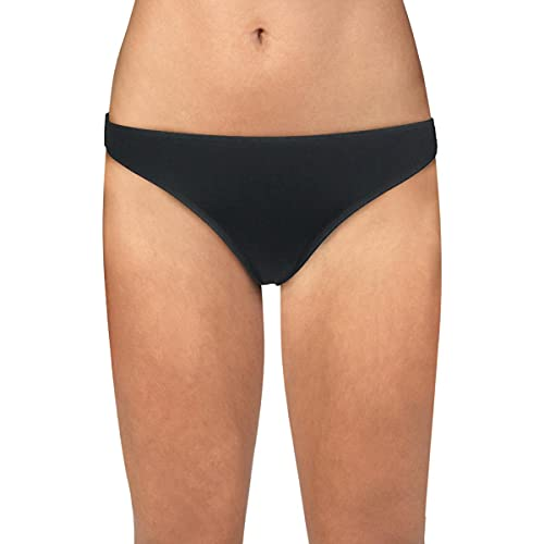 Roxy Women's Standard Beach Classics Moderate Bikini Bottom, True Black, M