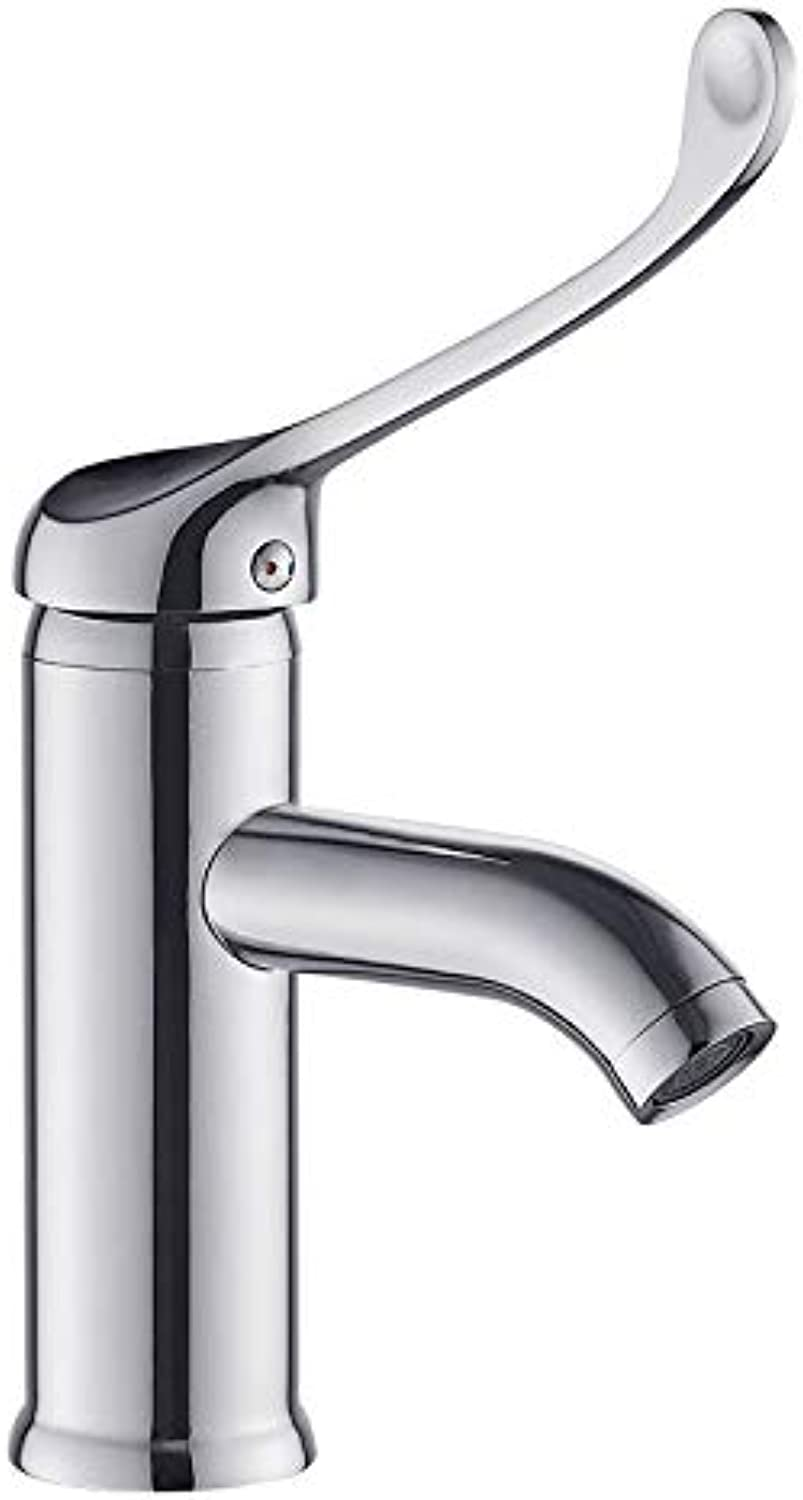 redOOY Taps Faucet???Bathroom Bathroom Copper Hot And Cold Faucet Heightened Long Handle Wash Basin Faucet
