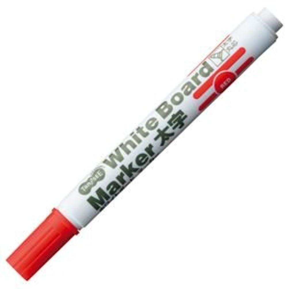 キャプションきしむ適切に(まとめ) TANOSEE ホワイトボードマーカー 太字丸芯 赤 1本 【×100セット】 ds-1578356