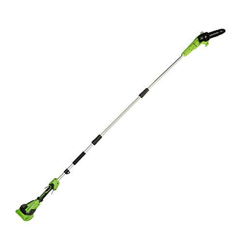 Greenworks 40V Hochentaster Akku Polsäge mit Akku und Ladegerät (Li-Ion 40V 20cm Schwertlänge 8 m/s Kettengeschwindigkeit)