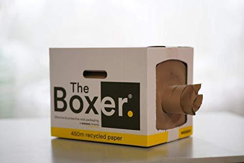 TheBoxer Rollo de papel protector TBHW  de 450 m de embalaje de relleno vacío (350 mm x 450 m) 80 g/m². Fuerte papel de embalaje reciclado y reciclable. Ideal para comercio electrónico.