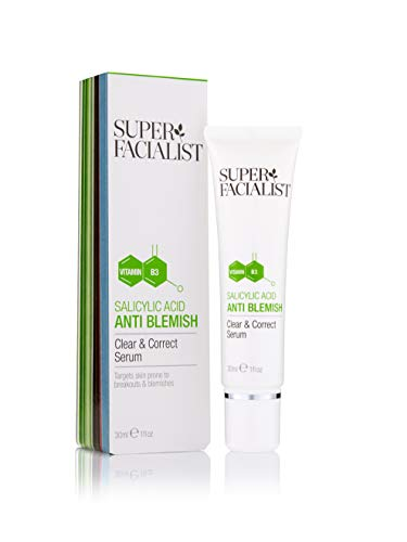 Super Facialist Salicylic Acid Anti Blemish Clear and Correct Face Serum. Clears Up Acne & Spots....