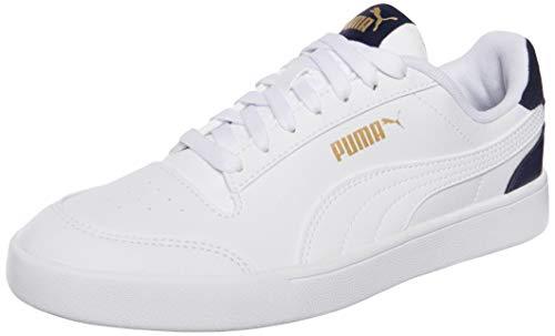 PUMA Shuffle, Zapatillas Unisex Adulto, Blanco (White White-Peacoat Team Gold), 43 EU
