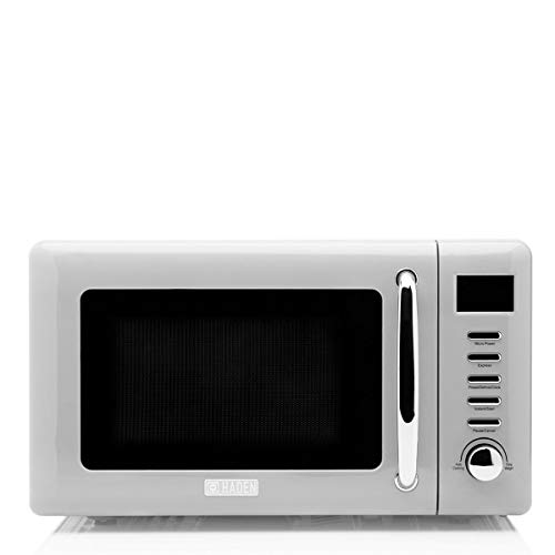 Haden Heritage Microwave – Defrost, Reheat & Cooking Functions, 800W, 20L, Light Grey CF44