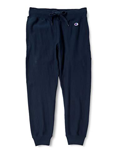 [チャンピオン] スウェットパンツ 裏毛 ジョガーパンツ 10oz 裾リブ ワンポイントロゴ リバースウィーブ ロングパンツ C3-F202 メンズ ネイビー L