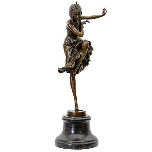 aubaho Bronzeskulptur Bronze Hindu Tänzerin nach Chiparus Skulptur Antik-Stil Replik
