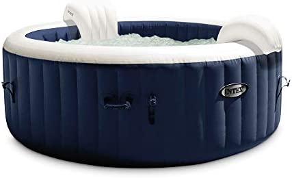 Intex 28431E PureSpa Plus 85in x 28in Outdoor Portable Inflatable 6 Person Round Hot Tub Spa product image
