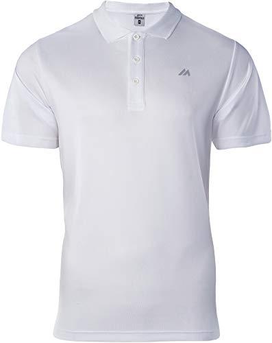 martes Mens NODIM Polo Shirt, White/Reflective, M