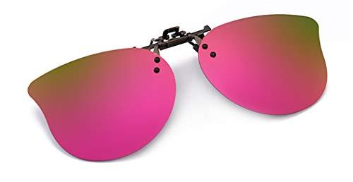 Flydo Gafas de Sol Polarizadas Clip Lentes de Espejo de Hombre Mujer Unisex Gafas de Sol con Clip para Niños