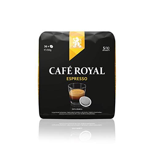Café Royal Espresso 36 kompatible Kaffeepads für Senseo®*, Intensität 5/10, 1er Pack (1 x 36 Kaffee-Pads)
