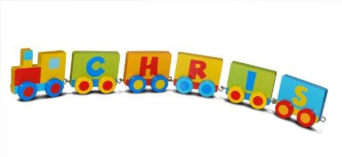 Das individuelle Kinderbuchstaben Spielzeug Zug aus Holz - Der Name von Ihrem Kind als Zug