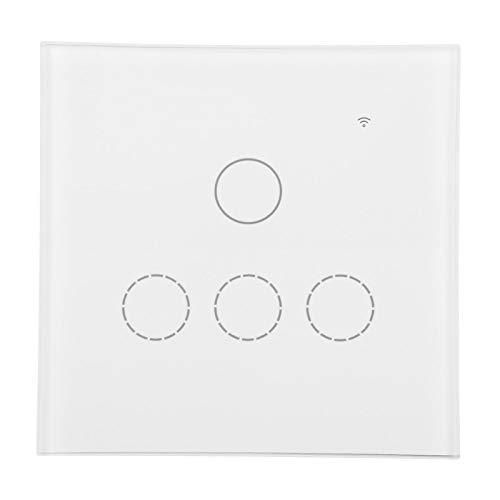 Panel de luz de pared Interruptor táctil Luz de pared táctil Protección contra sobrecorriente Pared remota inalámbrica inalámbrica para la vida en el hogar(#2)