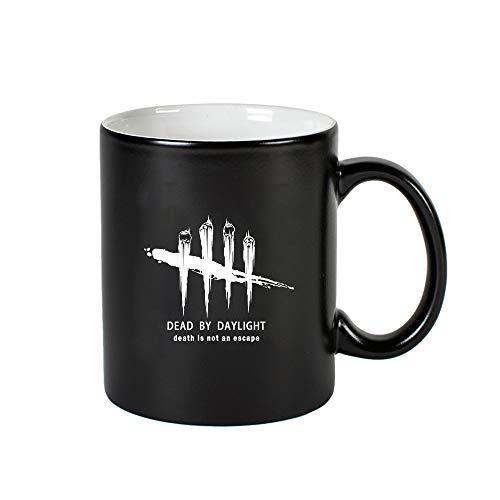 MOHKJMML Dead by Daylight Qualitäts-Cup Impressum Wasser-Schalen-Keramik-Becher Trendy for Familie und Freund (Color : Black02, Size : 9.5 X 8cm)