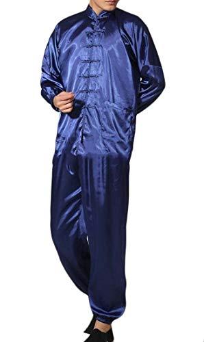 H&E Pijama de 2 Piezas Estilo Chino para Hombre Negro Negro