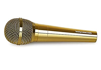 Lucky Voice Microphone Gold XLR to Jack Dynamic Microphones 5m cable Suitable For All Jack Plugin Karaoke Machines or Speakers Amps