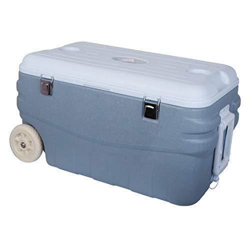 10T Outdoor Equipment Unisex - Adulto Fridgo Arona 80 L passive Thermobox PU refrigeratore caldo/freddo XL scatola termica su ruote blu 80 litri