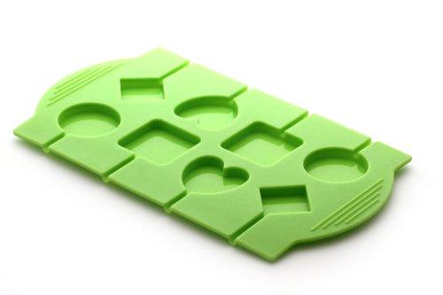 YOKO DESIGN 1247 Moule à Lolly/Sucette Silicone/Platine Vert 24,7 x 14 x 0,8 cm