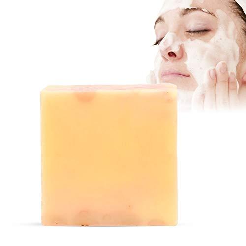 Duschseife, 100g Papaya Rose Handgemachte Seife Hautaufheller Feuchtigkeitsspendende Gesichtsseife - Tiefenreinigung, Ölkontrolle