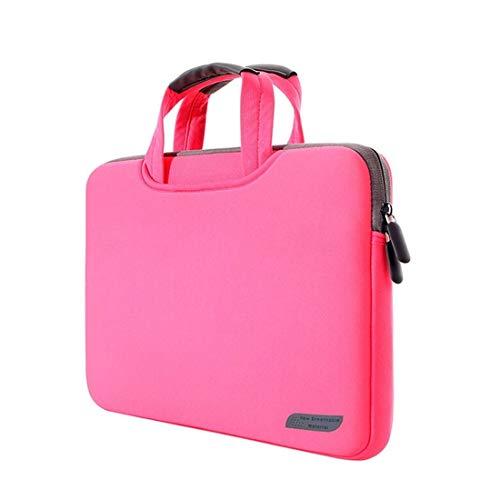 Borsa per netbook Custodia a manico portatile permeabile all'aria da 15.4 pollici for MacBook Air / Pro, Lenovo e altri laptop, dimensioni: 38x27.5x3.5cm (nero) Borsa per netbook ( Colore : Magenta )