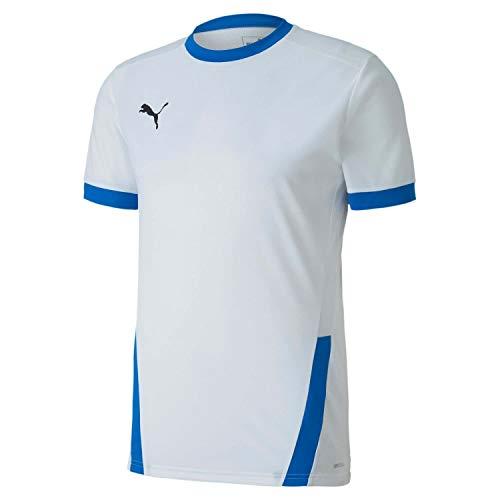 PUMA Teamgoal 23 Jersey Camiseta, Hombre, White/Electric Blue Lemonade, L