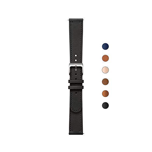 Withings WRLEBL18 Correa para Reloj, Unisex Adulto, Negro & Hebilla Plateada, 36 mm