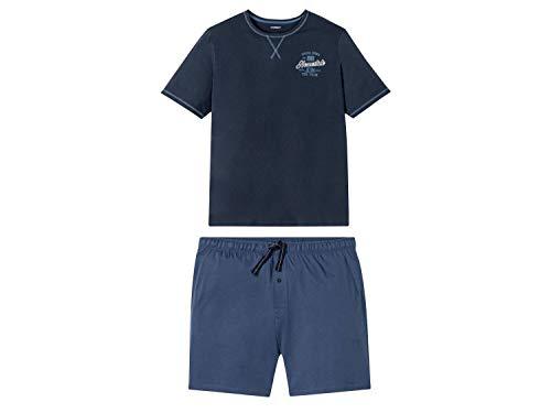 Livergy Herren Sommer Pyjama Kurze Schlafhose + Kurzarm Shirt ++Plussize++ Navy 4XL