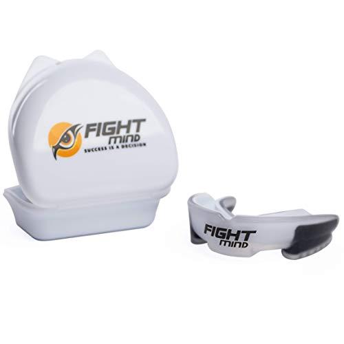 Fight Mind Premium Mundschutz - BPA-freier Zahnschutz für Kampfsport, MMA, Krav MAGA, Hockey, Football - Mit E-Book - In praktischer Box