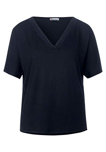 Street One Damen 315080 T-Shirt, deep Blue, 38