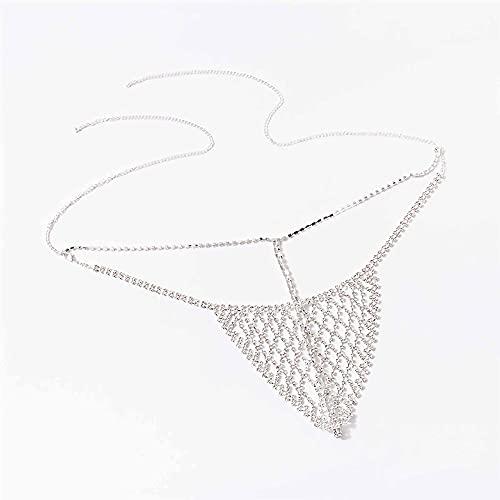 AMY-XCQ Körperkette, Bikini Tanga Metall eingelegt glänzend verstellbares Höschen Beach Club Orgie Accessoires,1pcs