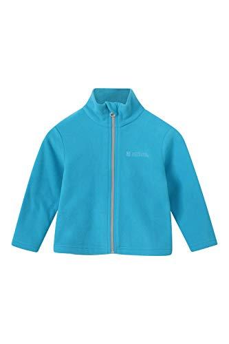 Mountain Warehouse Camber Baby-Fleecejacke – Kinder-Vollreißverschlussjacke, leichtes Mädchen- und Jungen-Top, warm – ideal zum Wandern, Reisen, für draußen, Winter Blau 24-36 Monate