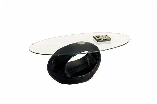 Links - Galaxy B2 - Tavolino. Dim: 110x60x40 h cm. Col: Nero, Trasparente. Mat: Fibra di vetro, Vetro.