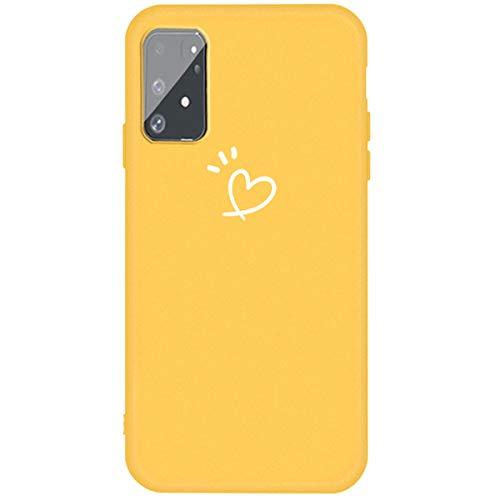 Hancda - Carcasa para Samsung Galaxy A91 / S10 Lite, de silicona, TPU suave, ultrafina, amarillo